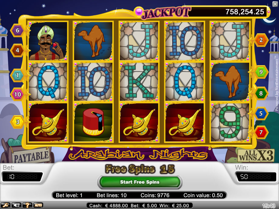 Arabian Nights Netent Online Jackpot for Real Money