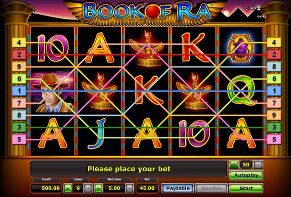 casino bet online slot machine book of ra free