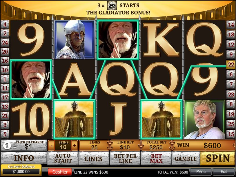 Gladiator Jackpot Casinos