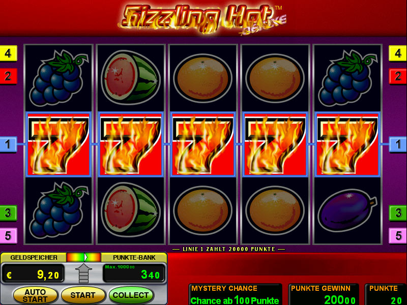 online casino cash sizlling hot