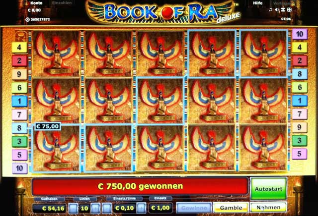 online slot machine book of ra spielgeld