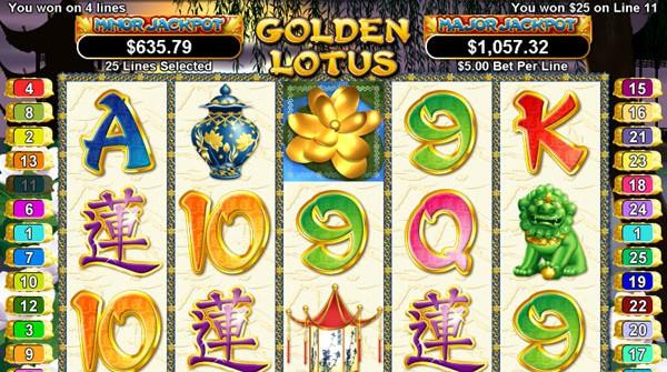 Free slot online games golden lotus