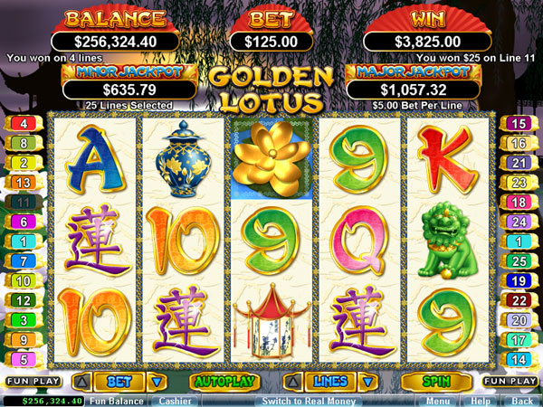 Golden Lotus Slot - Play for Free Online