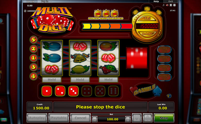 novomatic online casino dice and roll
