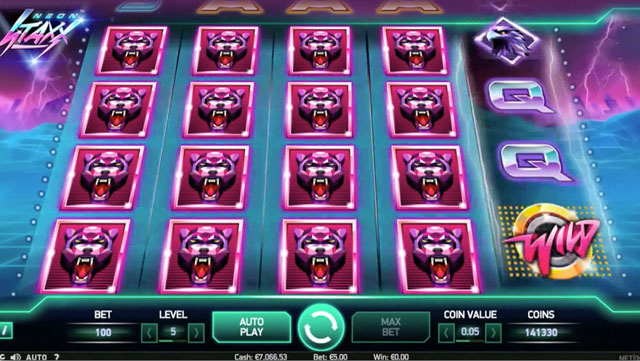 Neon Staxx Slot Machine by NetEnt – Try it for Free Online