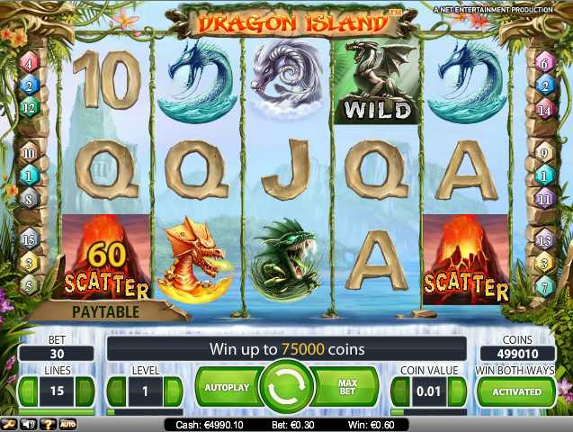 slot machines online free dragon island