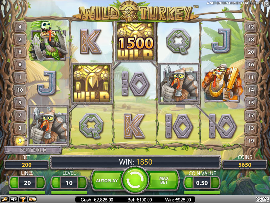 Wild Turkey Slot Machine Online ᐈ NetEnt™ Casino Slots