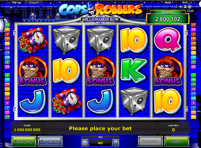 free online casino roulette cops and robbers slot