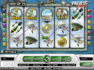 Pacific Attack slot machine