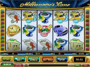 Millionaire's Lane slot machine