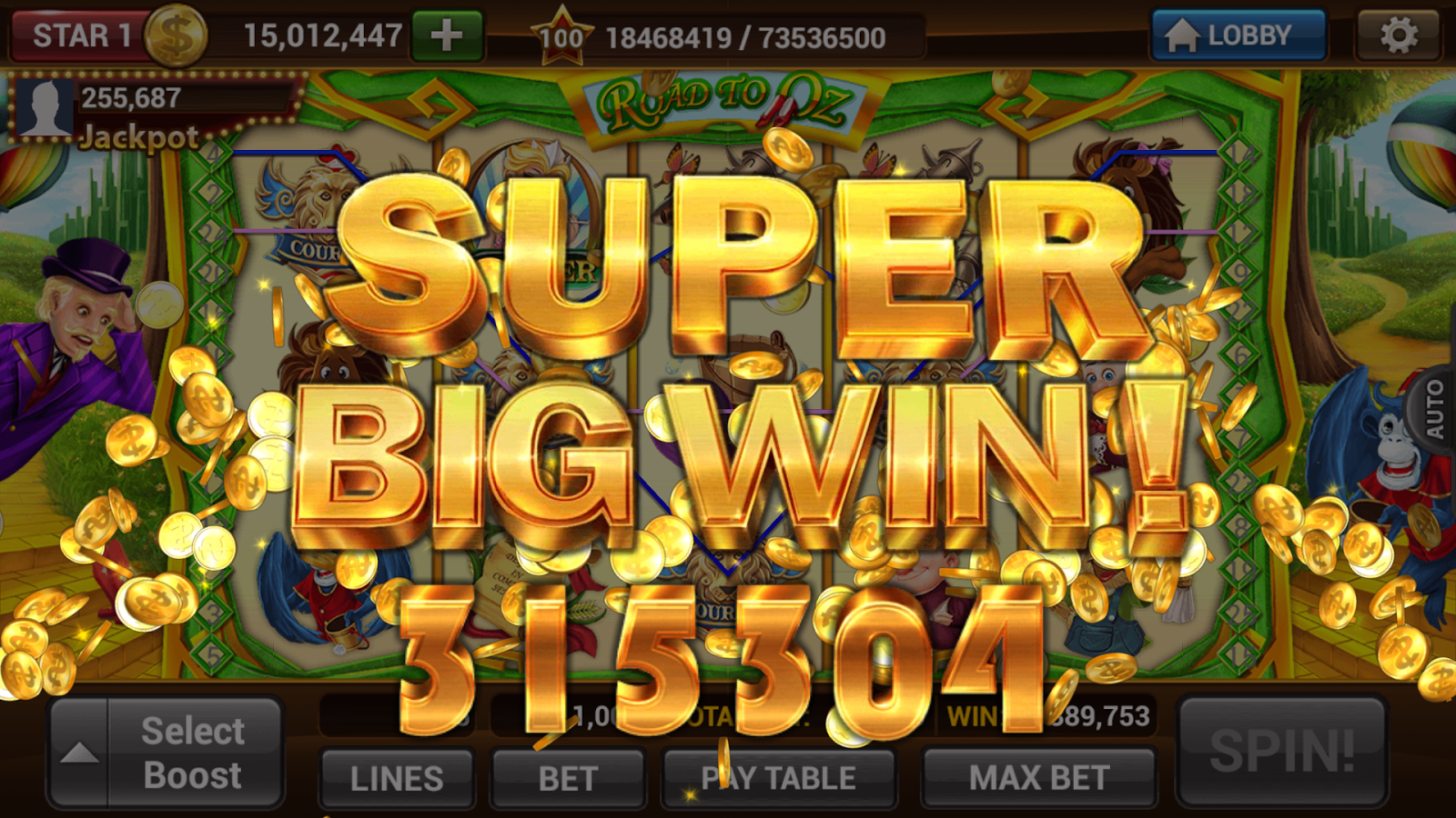 Slot machine big wins