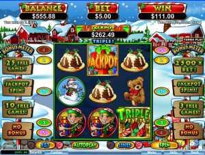 Santastic slot machine