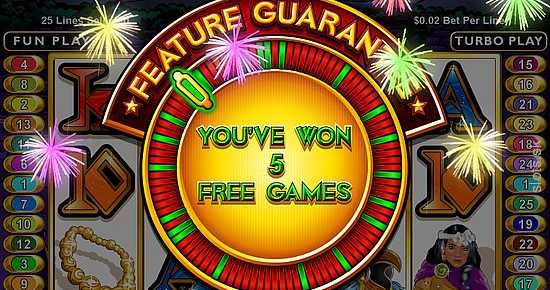 Aztec's Treasure Feature Guarantee slot machine