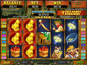 PayDirt slot machine game