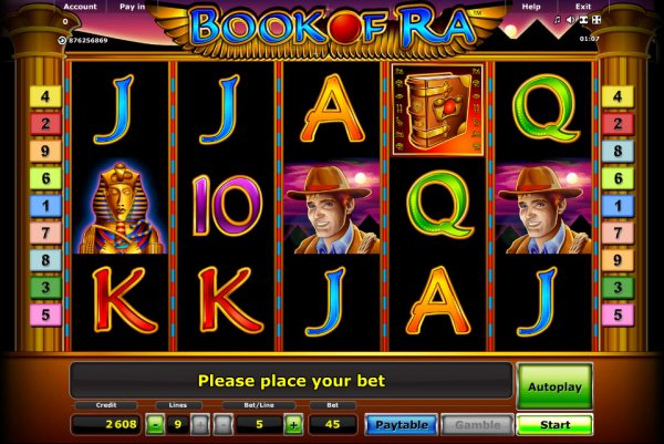 slots machines online book of ra for free