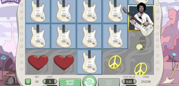 Jimmy Hendrix online slot machine