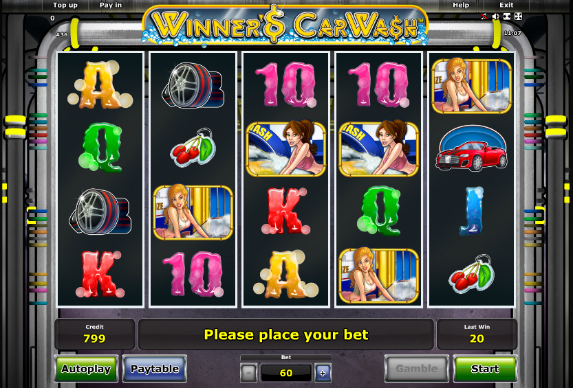 Winner's Car Wash slot machine