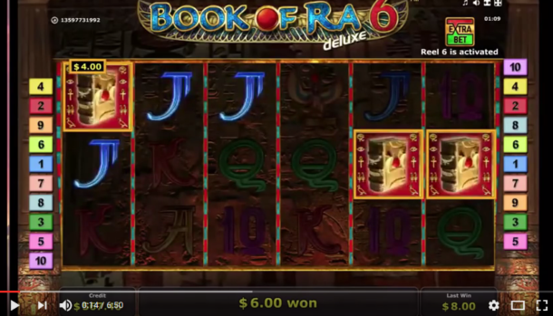 Big win on Book of Ra Deluxe 6 slot machine