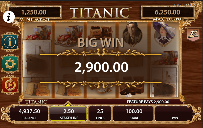 Titanic Slots - Casinos That Have the Titanic Slot Machine