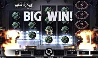 Playing Motorhead slot machine