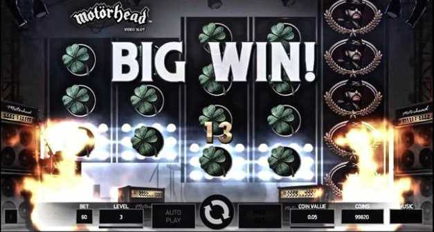 Playing Motorhead slot machine