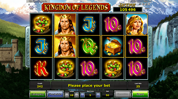Kingdom of Legends slot machine game