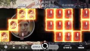 Planet of The Apes slot Dual Features