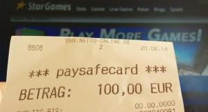 Paysafecard deposit