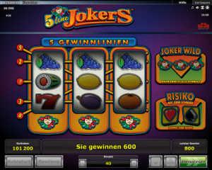 5 line jokers slot