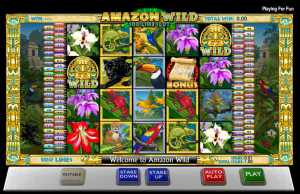 Amazon Wild 100 line slot machine