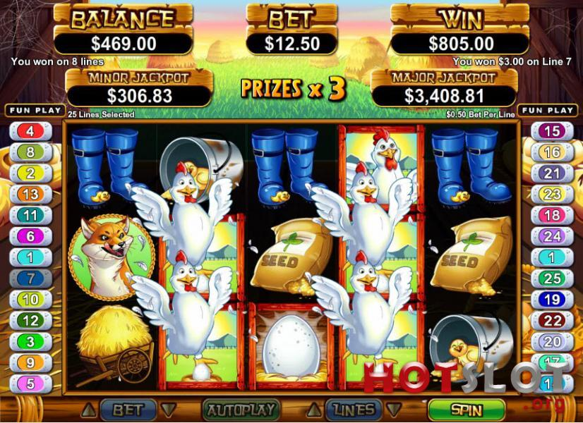 Hen House Slot Machine - Play it Now for Free or Real