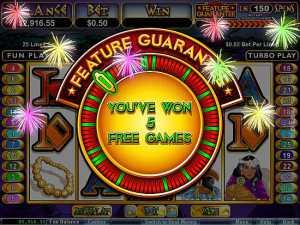 Aztec's Treasure Feature Guarantee slot machine
