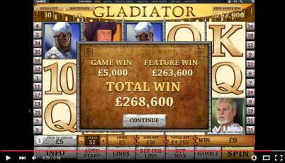 Gladiator slot big win