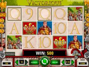 Victorious slot machine play
