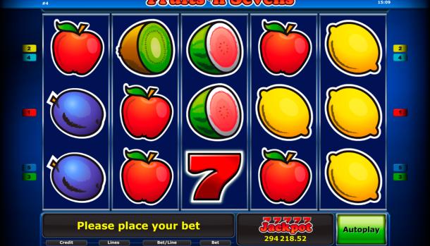 Fruitsn sevens slot machine