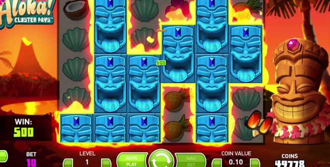 Aloha! Cluster Pays slot machine