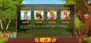 Seasons slot machine wild symbols